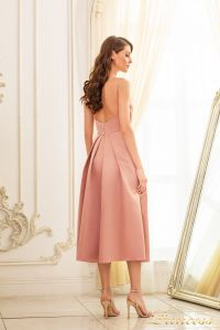 Вечернее платье 19048-cappuccino. Цвет бежевый. Вид 2