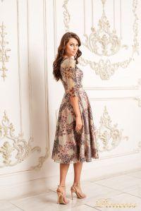Коктейльное платье 19055. Цвет пудра. Вид 2