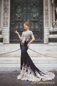 Вечернее платье 8002. Цвет чёрный. Вид 1