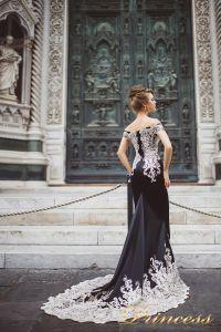 Вечернее платье 8002. Цвет чёрный. Вид 2