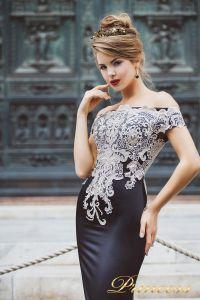Вечернее платье 8002. Цвет чёрный. Вид 3