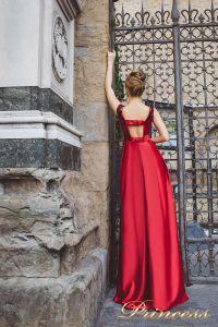 Вечернее платье 8004. Цвет красный. Вид 2