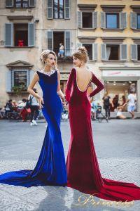 Вечерние платья 8006. Цвет navy. Вид 1