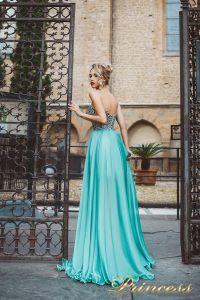 Вечернее платье 8009. Цвет мятный. Вид 2