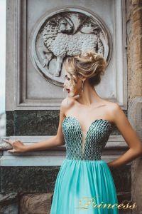 Вечернее платье 8009. Цвет мятный. Вид 3