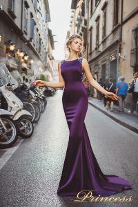 Вечернее платье 8010. Цвет фиолетовый. Вид 1