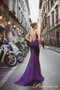 Вечернее платье 8010. Цвет фиолетовый. Вид 2