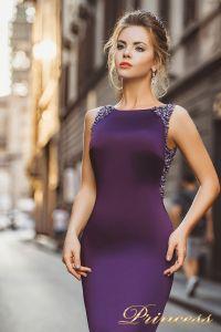 Вечернее платье 8010. Цвет фиолетовый. Вид 3