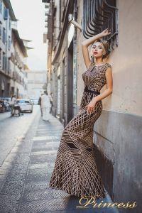 Вечернее платье 8012. Цвет золото. Вид 2