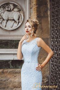 Вечернее платье 8013. Цвет голубой. Вид 3