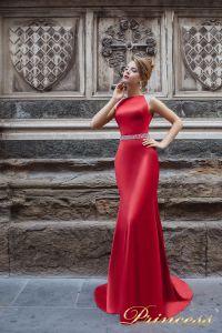 Вечернее платье 8014. Цвет красный. Вид 1