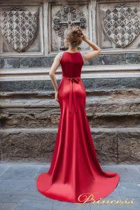 Вечернее платье 8014. Цвет красный. Вид 2
