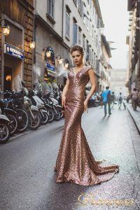 Вечернее платье 8015. Цвет цветное . Вид 2