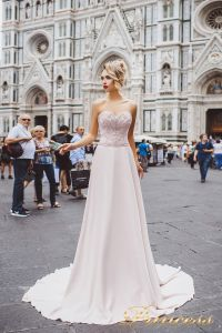 Вечернее платье 8016. Цвет айвори. Вид 1