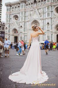 Вечернее платье 8016. Цвет айвори. Вид 2