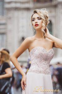 Вечернее платье 8016. Цвет айвори. Вид 3