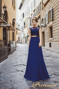 Вечернее платье 8017. Цвет синий. Вид 1
