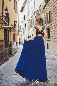 Вечернее платье 8017. Цвет синий. Вид 2