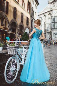 Вечернее платье 8019. Цвет голубой. Вид 3