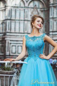 Вечернее платье 8019. Цвет голубой. Вид 4