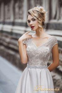 Вечернее платье 8020. Цвет бежевый. Вид 1