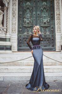 Вечернее платье 8021. Цвет чёрный. Вид 1