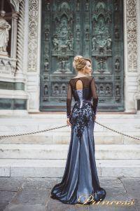 Вечернее платье 8021. Цвет чёрный. Вид 2