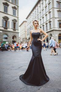Вечернее платье 8023. Цвет чёрный. Вид 1