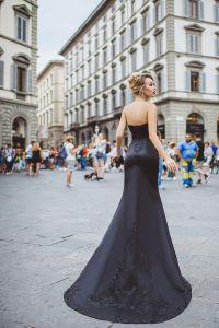 Вечернее платье 8023. Цвет чёрный. Вид 2