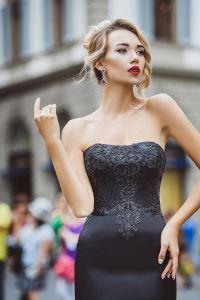 Вечернее платье 8023. Цвет чёрный. Вид 3