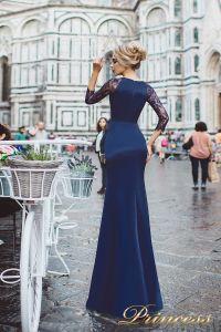 Вечернее платье 8026. Цвет navy. Вид 2