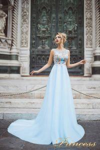 Вечернее платье 8027. Цвет айвори. Вид 2