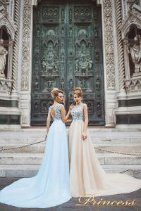 Вечернее платье 8027. Цвет айвори. Вид 1