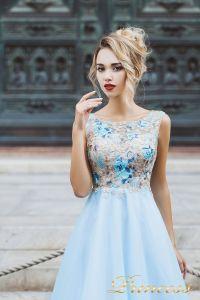 Вечернее платье 8027. Цвет айвори. Вид 3