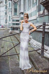Вечернее платье 8028. Цвет сиреневый. Вид 1