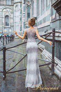 Вечернее платье 8028. Цвет сиреневый. Вид 2