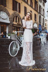 Вечернее платье 8029. Цвет айвори. Вид 1