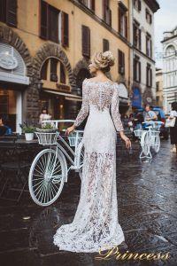 Вечернее платье 8029. Цвет айвори. Вид 2