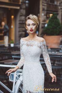 Вечернее платье 8029. Цвет айвори. Вид 3