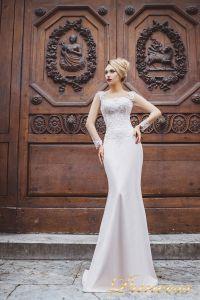 Вечернее платье 8030. Цвет айвори. Вид 1