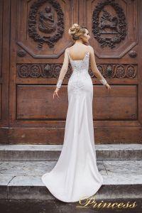 Вечернее платье 8030. Цвет айвори. Вид 2