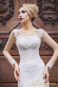Вечернее платье 8030. Цвет айвори. Вид 3