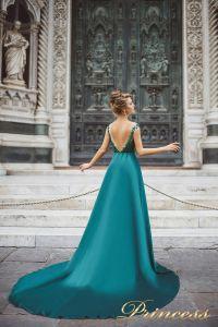 Вечернее платье 8031. Цвет зеленый. Вид 2