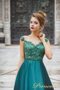 Вечернее платье 8031. Цвет зеленый. Вид 3