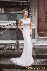 Вечернее платье 8032. Цвет бежевый. Вид 2