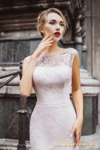 Вечернее платье 8032. Цвет бежевый. Вид 3