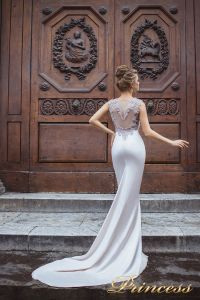 Вечернее платье 8033. Цвет серебро. Вид 2