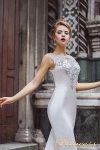 Вечернее платье 8033. Цвет серебро. Вид 3