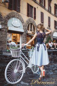 Вечернее платье 8034. Цвет голубой. Вид 2
