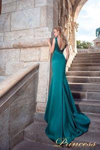 Вечернее платье 7038. Цвет зеленый. Вид 2